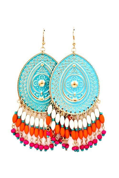 Patina Boho Chandelier Earrings