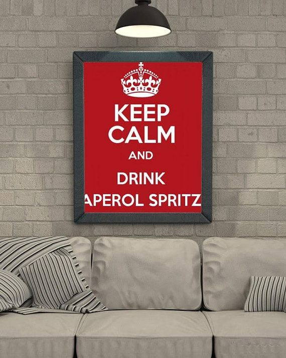 Art Print Poster Canvas KEEP CALM AND DRINK APEROL SPRITZ