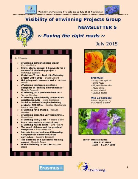 Visibility of eTwinning Projects Group Newsletter no. 5 - July 2015