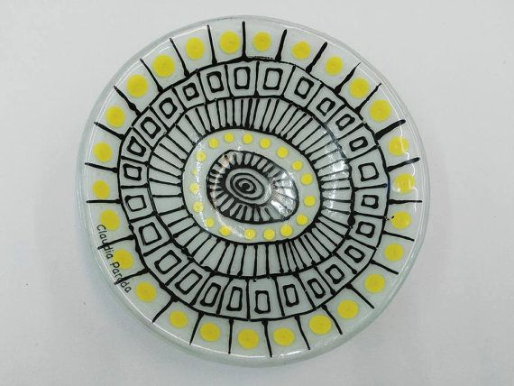 FUSED GLASS BOWL by CLAUDIAPARADA on Etsy