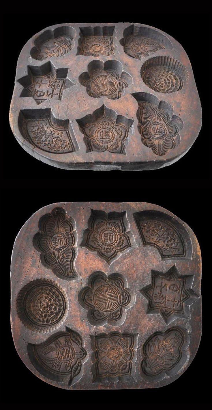 Carved Wooden Cake Mould Tray | Straits Chinese, Singapore/Malaysia | circa 1900