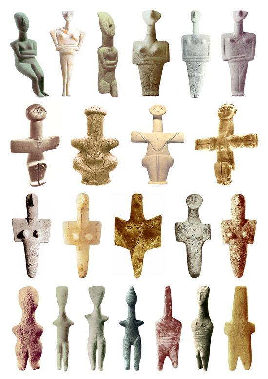 Diosa esculturas temprana edad de bronce a través de> etsi-ketsi.net