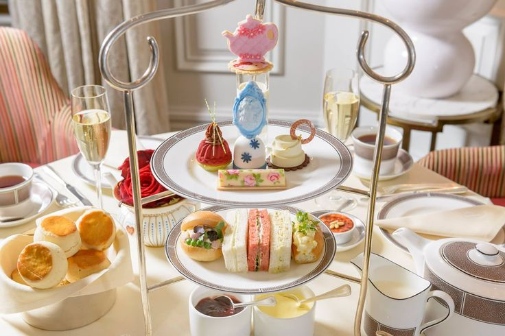 Afternoon tea at The Langham - the first hotel in London to serve afternoon tea in 1865