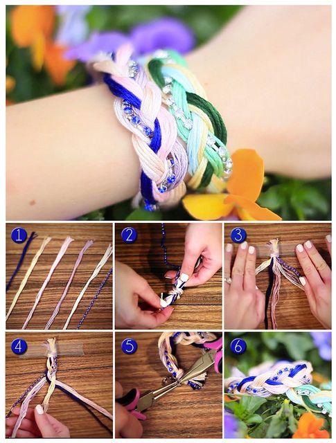 Bracelet tutorial by evelinabarry, via Flickr