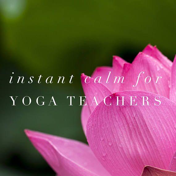 Instant Calm for Yoga Teachers Guided Meditation Audio