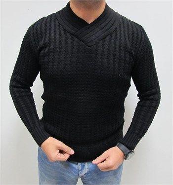 Yeni sezon erkek fit kesim siyah kazak modellerini en ucuz fiyatlarıyla kapıda ödeme ve taksit ile Outlet Çarşım'dan satın al.