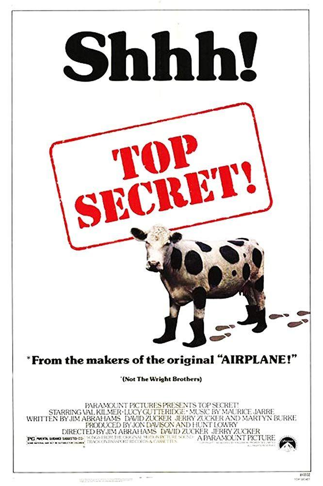 Top Secret 1984 Peliculas De Comedia Peliculas De Los 80 Val Kilmer