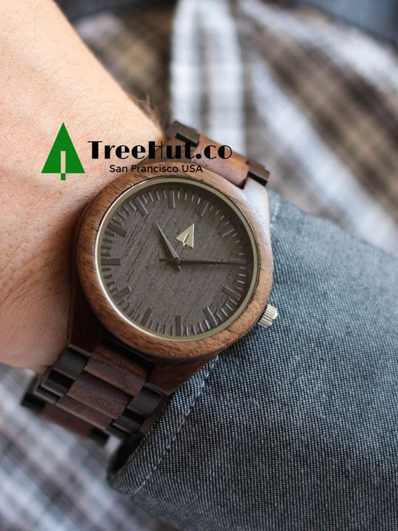 Wedding Gift Groom Watch : Engraved Groom Gift Wood Watch Wedding Gift Mens ?? TreeHutDesign ...