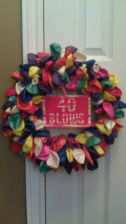 40 Blows Balloon Birthday Wreath -