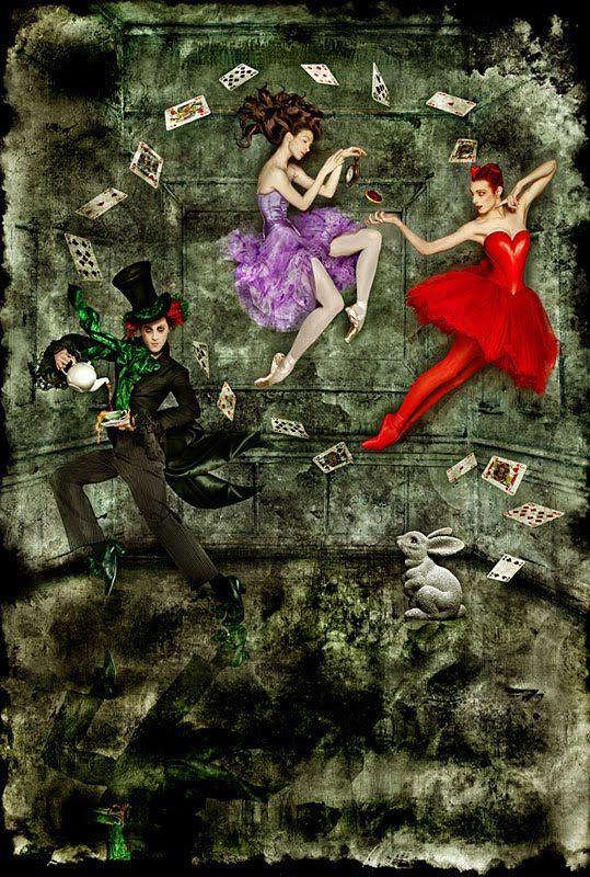 "Affiche du ballet ""Alice In Wonderland"" in ""Opera House Ballet"" of London"