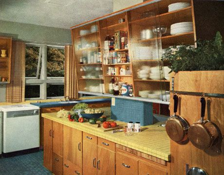 Retro Kitchen Decor - 1950s Kitchens - House Beautiful
