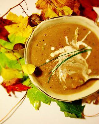 A quintessential autumn soup - German Chestnut Soup
