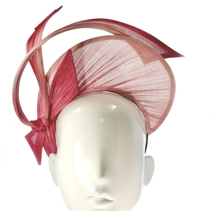 Bonnie Evelyn Millinery » Pink Ombre Jinsin Crown - 2017 Spring Racing Carnival