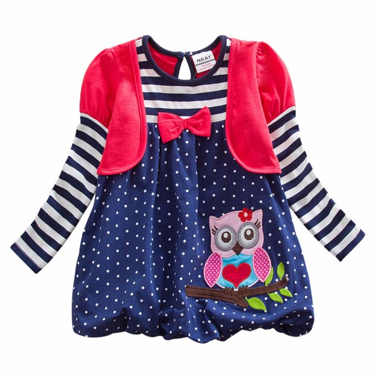 Spunky Owl Dress, 43.8% discount @ PatPat Mom Baby Shopping App