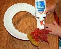 Fall kids wreath