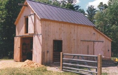 A flock of vermont sheep call this little barn home but for Tractor garage plans