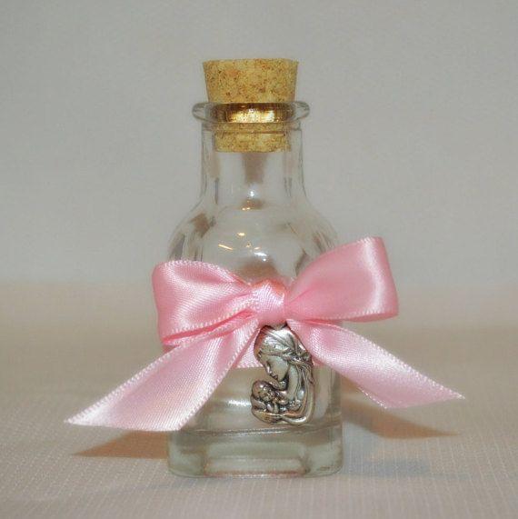 Mini bottle designed for Holy Water Baptism by CuteLittleFavors