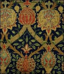 Pomegranate brocade. William Morris?? Not sure but looks like his.