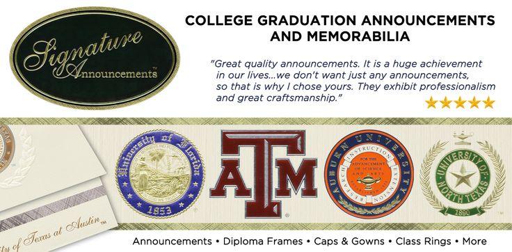 Signature Announcements College Graduation Announcements And Memorabilia