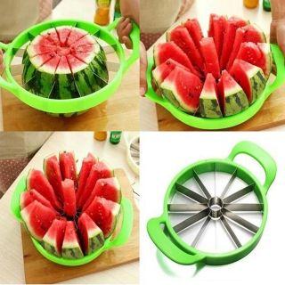 Big Size Stainless Steel Apple Watermelon Cutter Melon Slicer Kitchen Fruit Divider Tools Random Color