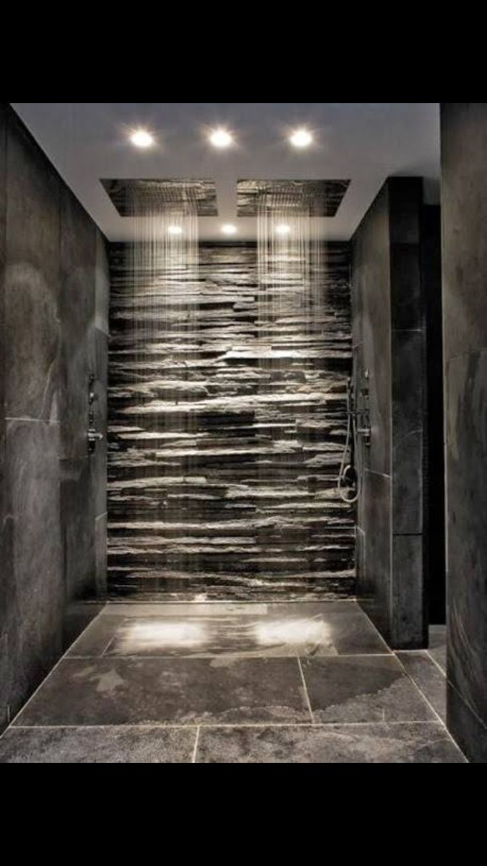 best stone shower images on pinterest bathroom half bathrooms