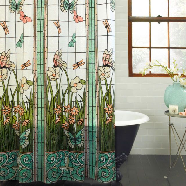 61 best shower curtains images on pinterest shower curtains mainstays stained glass meadow peva shower curtain ebay gumiabroncs Gallery