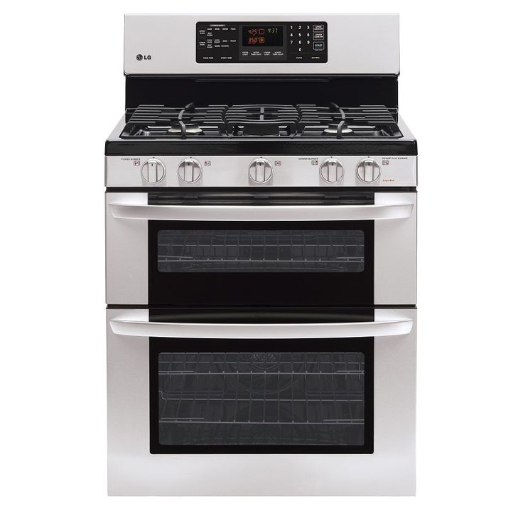 Shop Lg 30 In 5 Burner Self Cleaning Double Oven