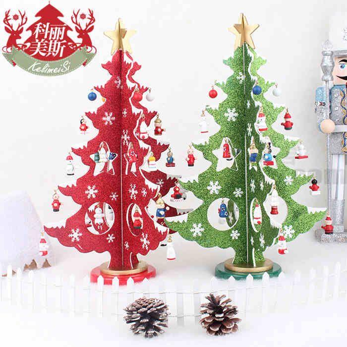 36см творческой точки зрения деревянные елки украшения Рождественские украшения елки Обои для рабочего Рождественская елка -tmall.com модель Lynx