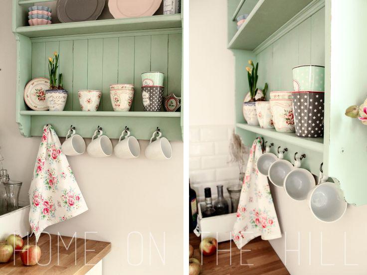 metamorfoza IKEA, półka kuchenna zrobiona z regału  #shelf #kithen shelf #mint #IKEA