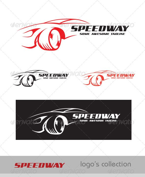 SpeedWay  Logo — Vector EPS #car logo #automobile • Available here → https://graphicriver.net/item/speedway-logo/5971308?ref=pxcr