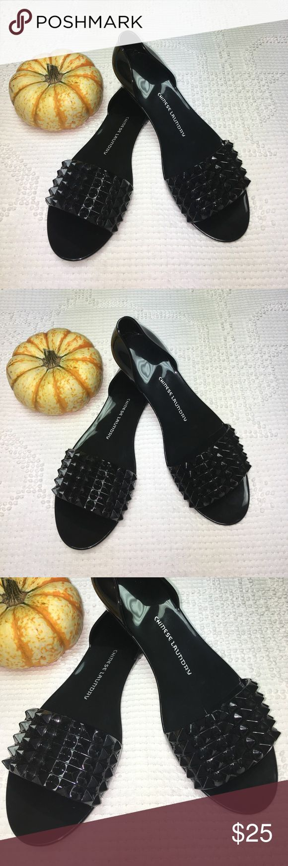 Chinese Laundry Black Rubber Studded Flats Chinese Laundry Black Rubber Studded Flats NWOT. NEVER WORN! Chinese Laundry Shoes
