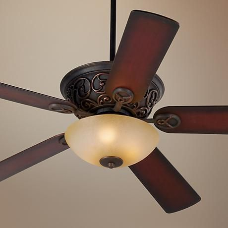 Casa Contessa Bronze And Scavo Glass Ceiling Fan