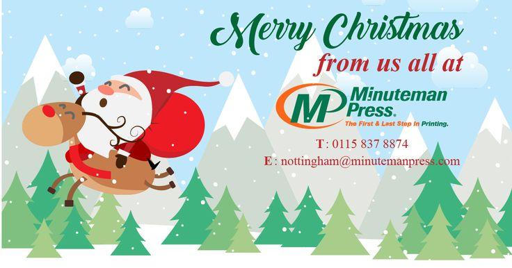 Merry Christmas from all of us at @MinutemanNottm  #christmas #santa #print #crimbo #xmas #design #mmp