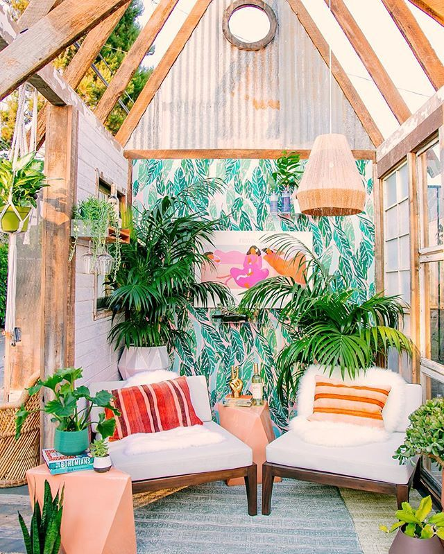 Its Tropical Jungle Out There And We Like It Tap Link In Bio To Shop Elba Chairs Featured This Wild Reclaimed Shed Designed By Justina