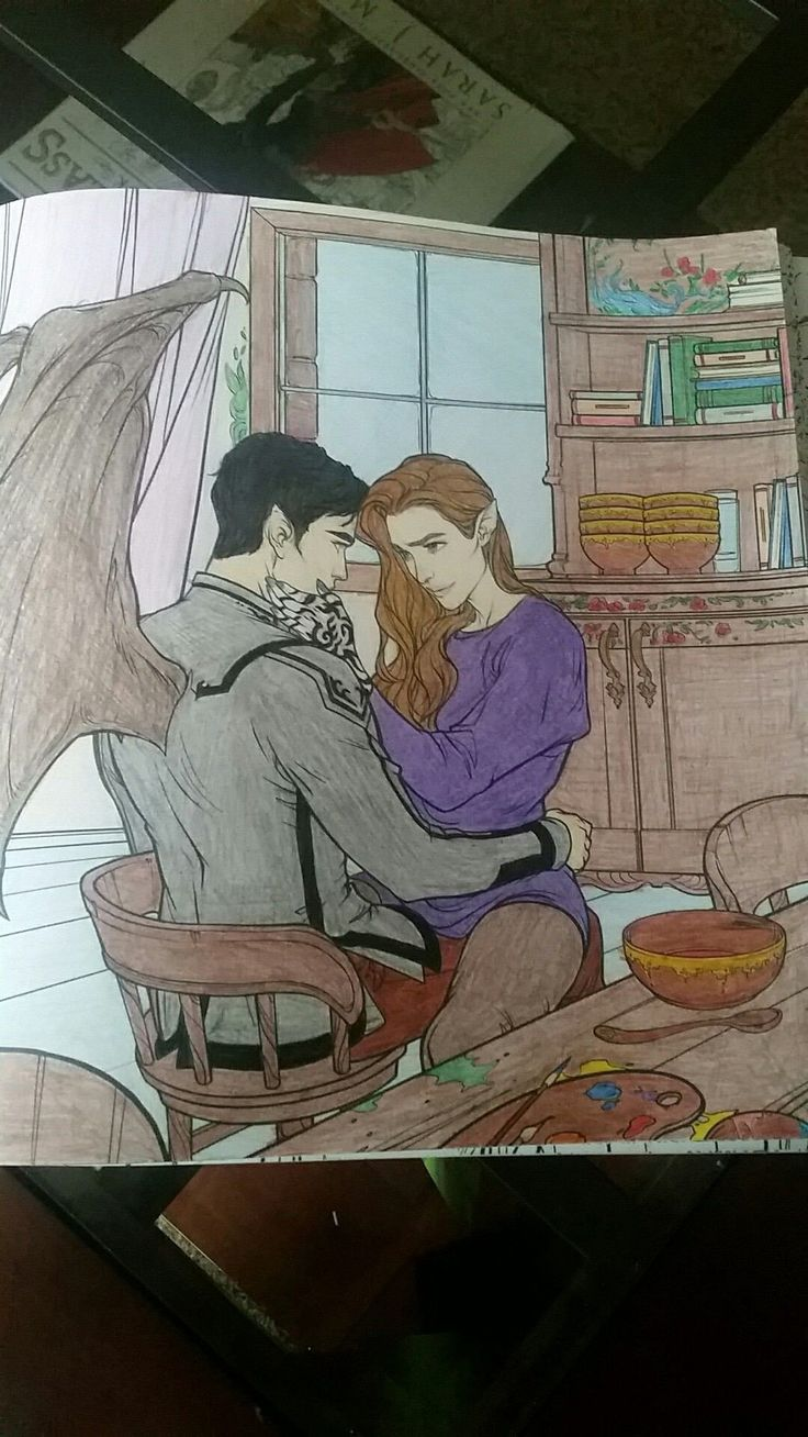 A court of thorns and roses coloring book beautiful feyre