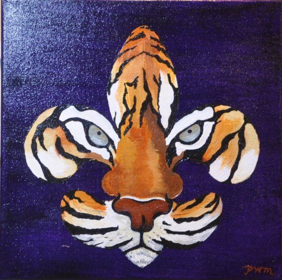 Fleur de Tigre  MadeToOrder painting by PWMorvant on Etsy, $65.00