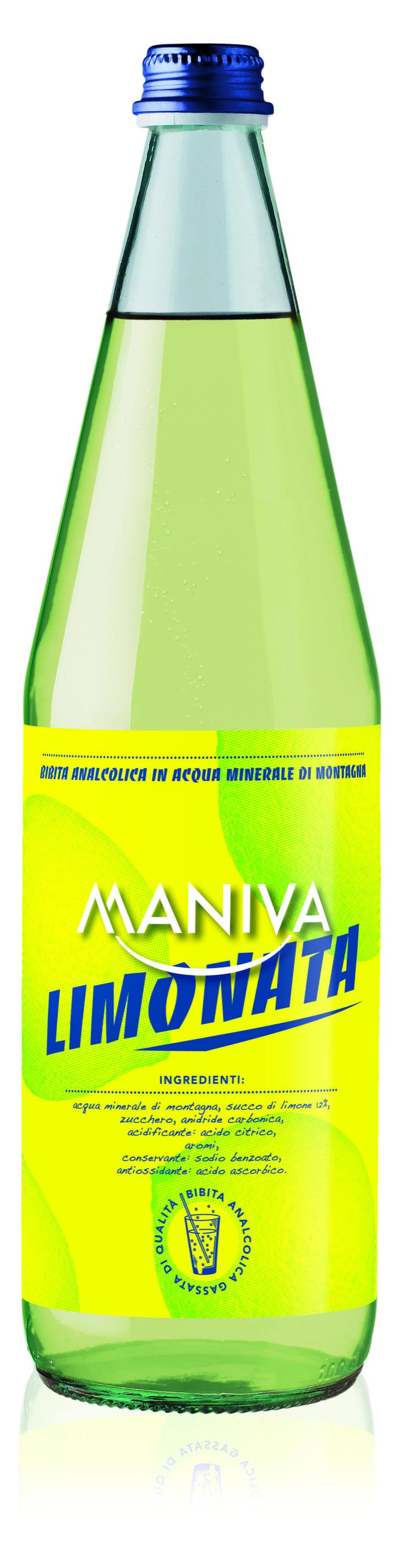 LIMONATA  Bibita analcolica frizzante, di alta qualità garantita anche dalla leggera acqua minerale di montagna di cui è composta
