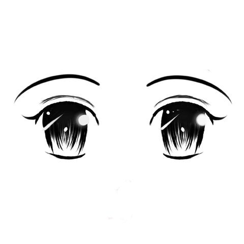 Big innocent anime eyes