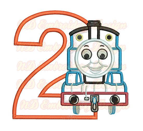 Thomas Train Birthday Applique Design Pictures Wwwpicturesbosscom