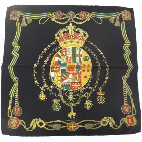 【レビューで送料無料】【Salvatore Argenio】ポケットチーフ・王冠とナポリの紋章・ブラックのポケットスクウェア【あす楽対応】【楽ギフ_包装選択】【楽ギフ_メッセ入力】【カフスマニア】【楽天市場】