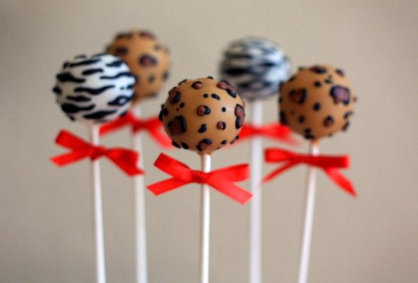 Animal Print cake pops I'm going to attempt to make for party favors