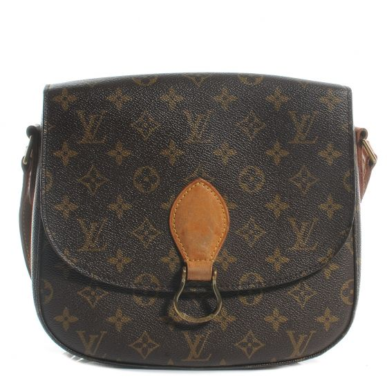 This is an authentic LOUIS VUITTON Monogram Saint Cloud MM.   The traditional features and fine quality of this Louis Vuitton shoulder bag lend a look of classical sophistication for everyday.