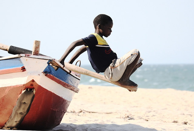 The Boy and the Boat, Mozambique, Africa
