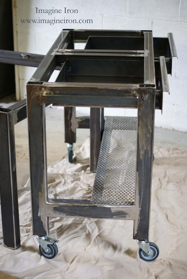 Industrial Style Steel Table Bases For A Kitchen Island Configuration Www Imagineiron Com