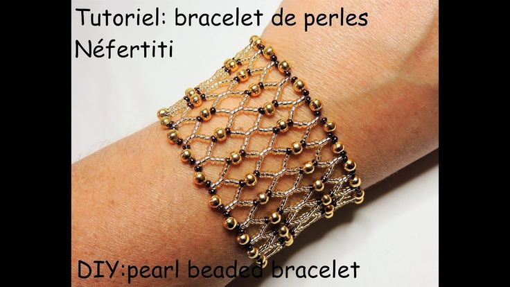 "Tutoriel: bracelet de perles ""Néfertiti"" (DIY: pearl beaded bracelet)"