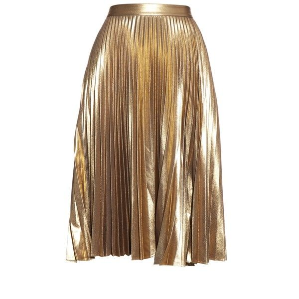 Best 25  Gold pleated skirt ideas only on Pinterest | Women's ...