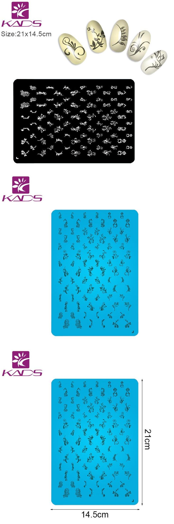 [Visit to Buy] KADS 1Pcs Nail Stamp For DIY Nail Stamping Plates New Arrival Stamper Nail Art Konad Stamping NaiI Stamper Nail Art #Advertisement