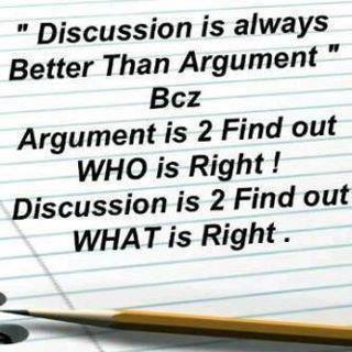 Argument versus Discussion