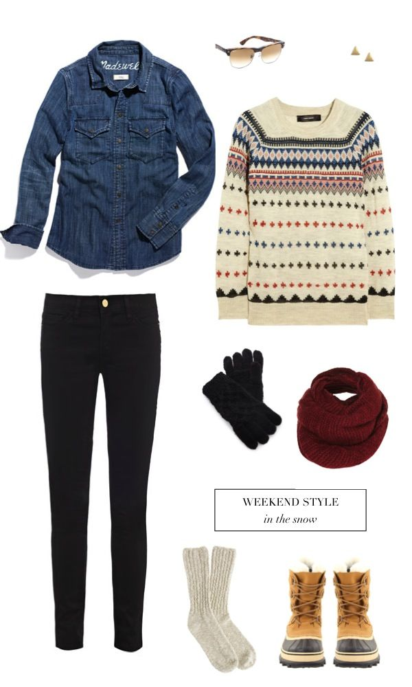 Weekend Style: fair isle sweaters and chambray shirts
