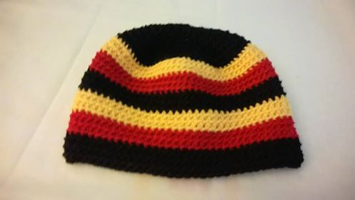 Pure wool 8 Ply Beanie - fits 6 to 10 year old.  $20 @ the Petrie Market, Old Petrie Town, Kurwongbah, Sundays 8am to 2pm.  I'm outside Terry Saleh Art Gallery.  Or.... add postage if required.